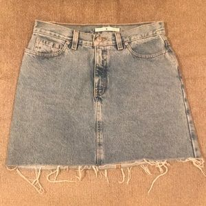 Vintage Tommy Hilfiger Distressed Denim Skirt